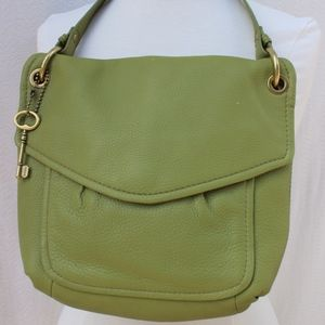 Fossil Green Medium Shoulder Bag